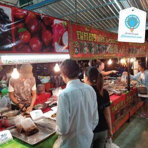 ตลาดศรีเมืองนนท์ ตลาดสดในเต๊นท์ ปูพื้น-แบกะดิน สินค้าหลากหลายน่าซื้อ
